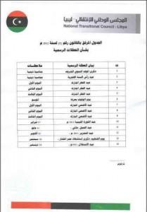 العطلات الليبية